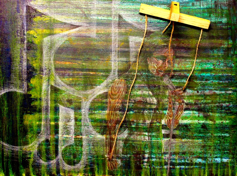 02_gender-control_18x24_mixed-media-colored-pencil-cut-wood-twine-oil-wash
